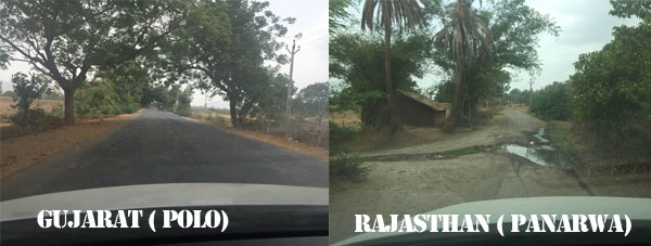 Roads in Gujarat and Rajasthan