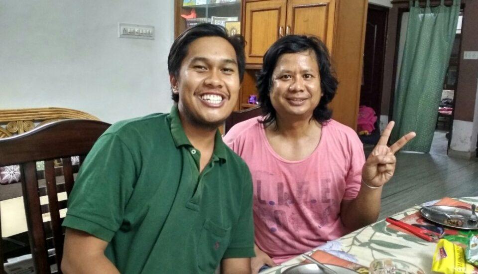 Kenneth and Uttam Pegu in Udaipur