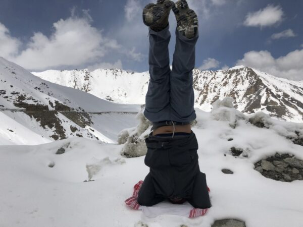 Sirsasana ( Head Stand) at 17000 feet