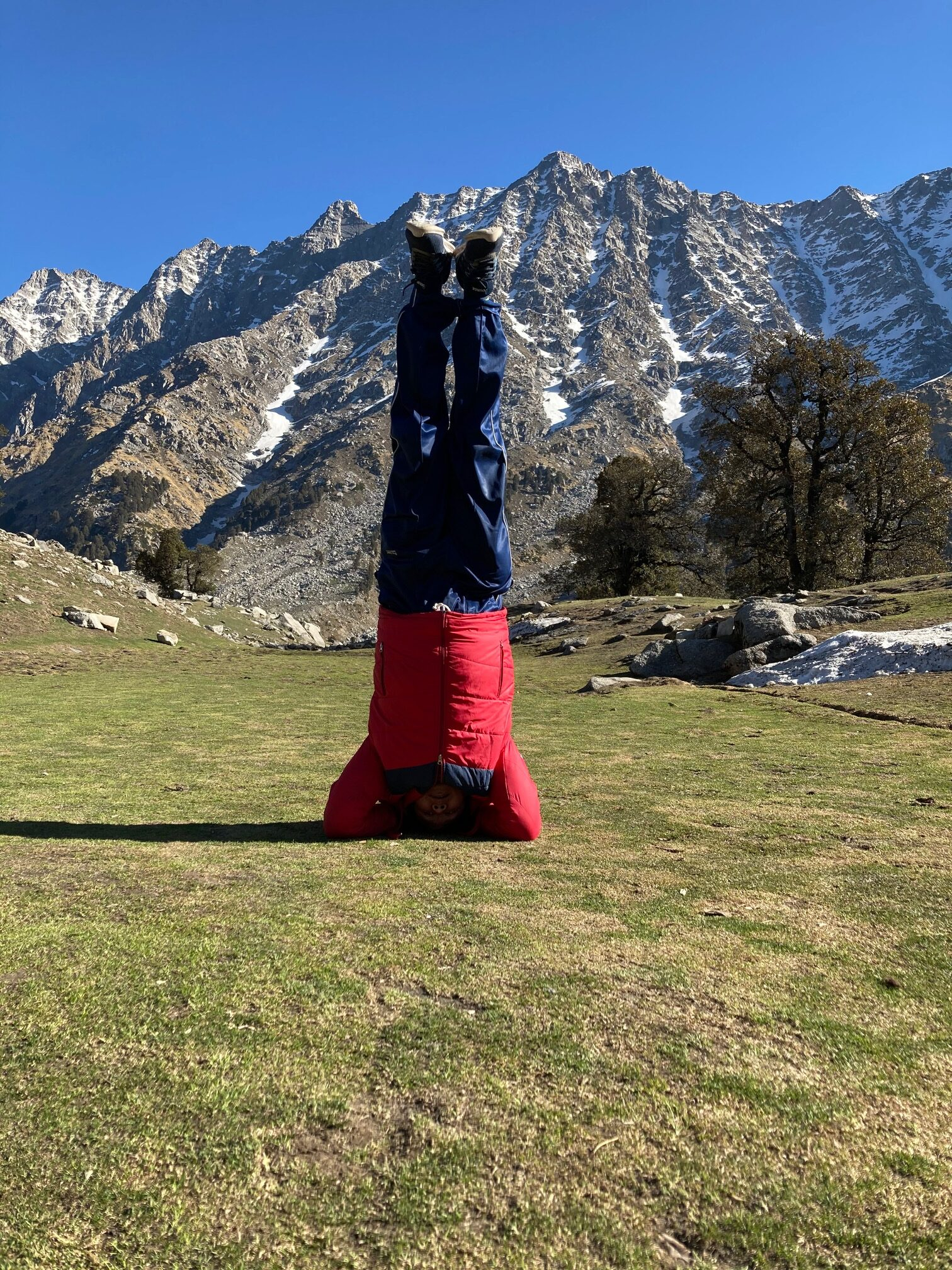 head Stand at SnowLine